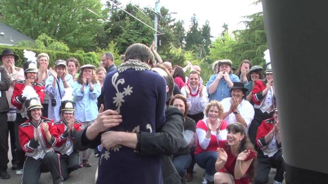 Une demande en mariage unique au monde